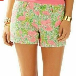 Lilly Pulitzer Walsh Short Hot Wings Flamingo